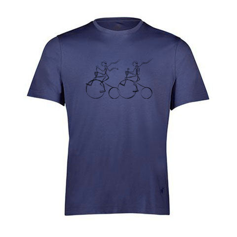 BIKE2 By Raffi<Br>Pure Aqua Cotton Crew Tee