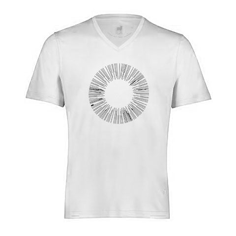 CIRCLE By Raffi<br>Aqua Cotton Basic V/Neck Tee