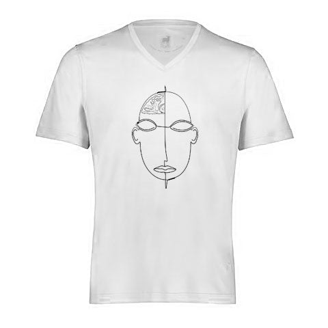 Aqua Cotton Basic V/Neck Tee - FACE By Raffi