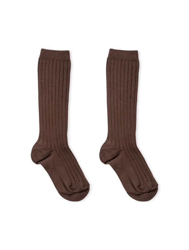 a63616170 Ribbed knee high socks brown - Minis Baby Kids - Children s clothing ...
