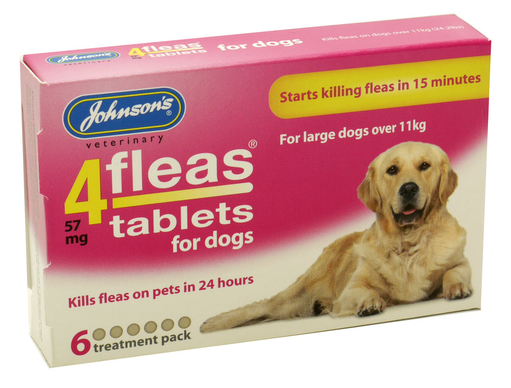 Johnson's 4Fleas Flea Tablets For Large Dogs (Over 11kg)