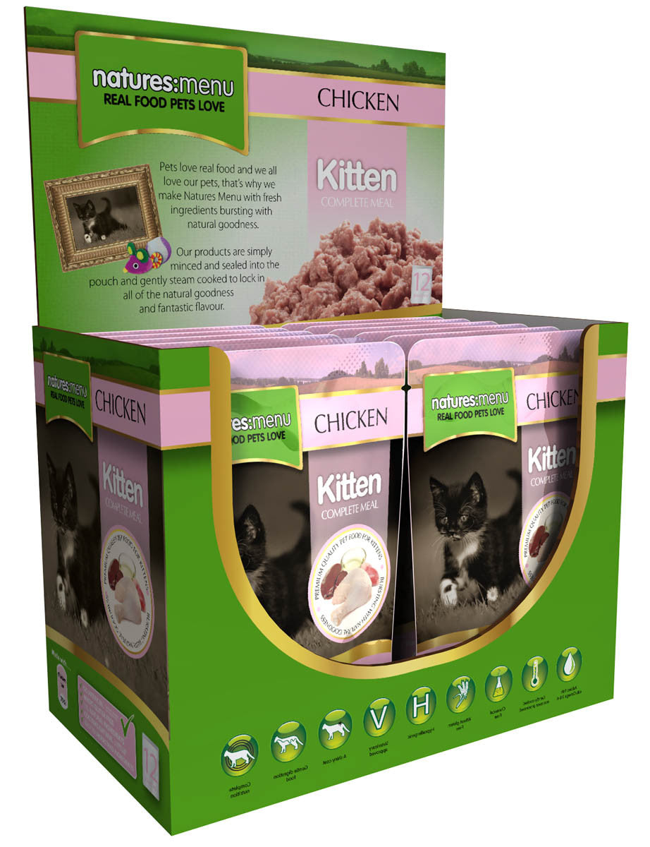 Natures Menu kitten 12 Pouches