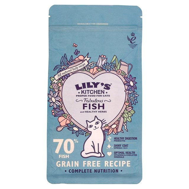 Lilys Kitchen Fish Dry Food for Cats
