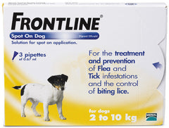 Frontline Dog 3 pack