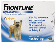 Frontline Dog 6 pack