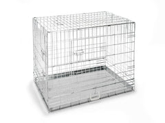 "42"" Chrome Dog Crate"