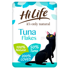 Hilife Its Only Natural Cat Pouch Tuna Flakes In Jelly 70g x 18