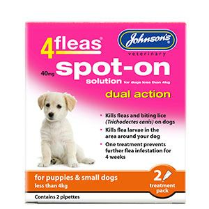 4Fleas Spot On Dual Action Flea Treatment For Dogs