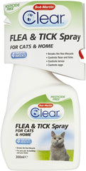 Bob Martin Clear Flea & Tick Spray for Cats and Home 300ml