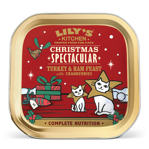 Lilys Kitchen Christmas Turkey & Ham Feast Dinner For Cats 85g