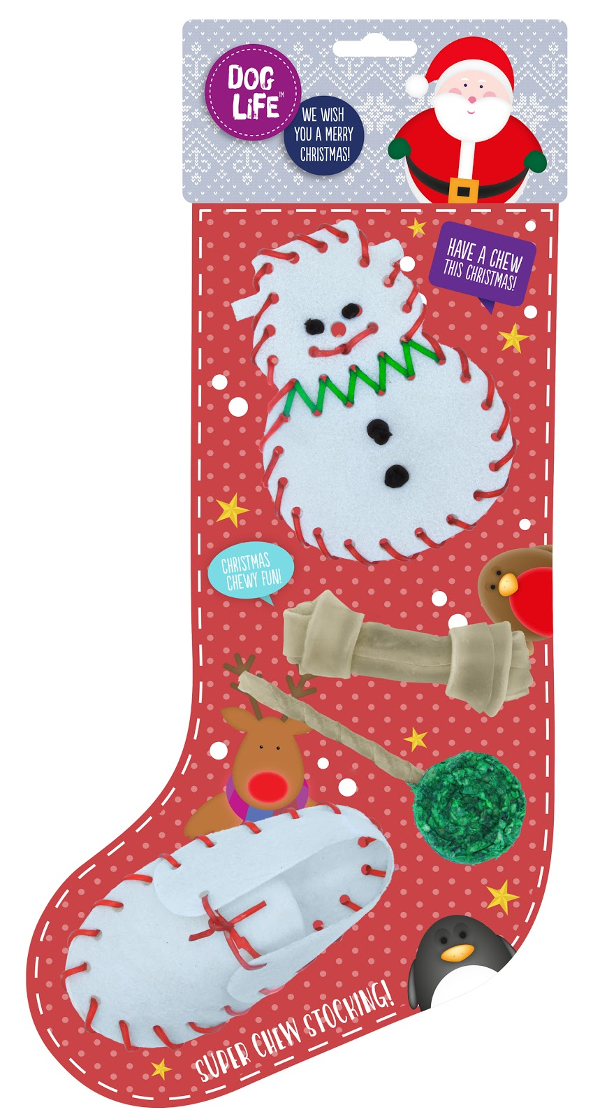 Super Chew Christmas Dog Stocking