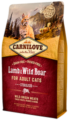Carnilove Lamb & Wild Boar For Sterilised Cats Food