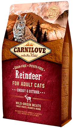 Carnilove Reindeer For Energy & Outdoor Adult Cat Food