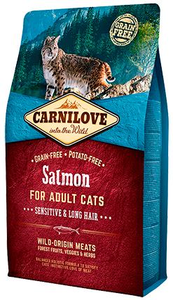 Carnilove Salmon Sensitive & Long Hair Cat Food