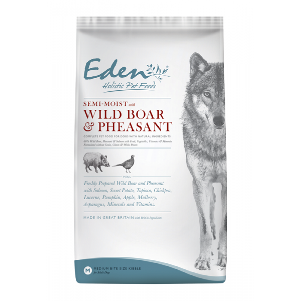 Eden Semi-moist Wild Boar & Pheasant Dog Food