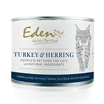 Eden Wet Food Turkey & Herring Cat Food 6 x 200g