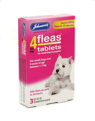 4Fleas  Flea Tablets for Small Dogs and Puppies - Up To 11kg