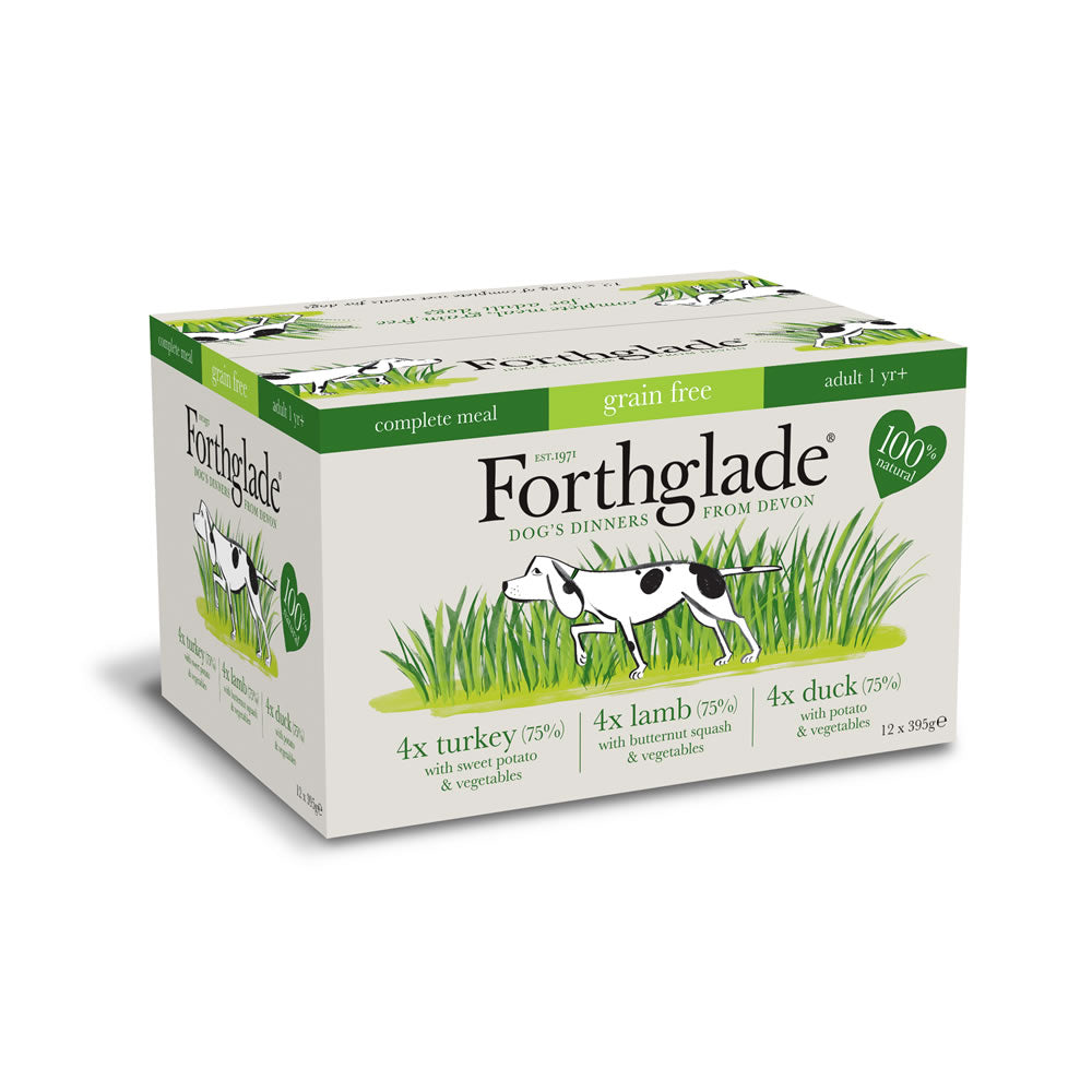 Forthglade GRAIN FREE complete dog food multipack