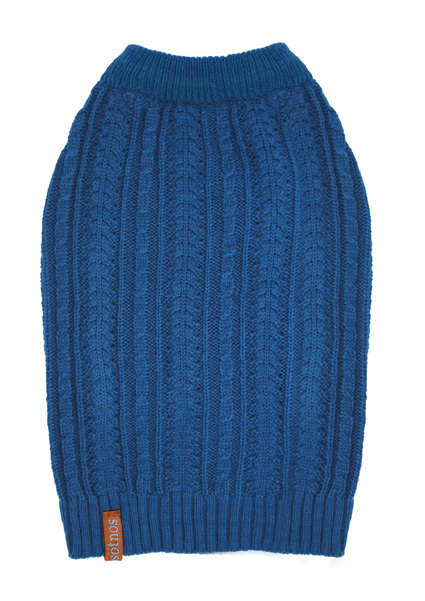 Sotnos Teal Cable Knit Dog Sweater/Jumper