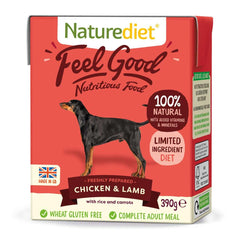 Naturediet Feel Good Chicken & Lamb 390g