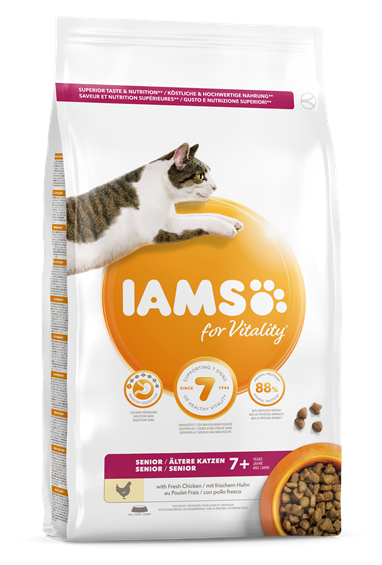 IAMS for Vitality Senior Cat Food - Chicken