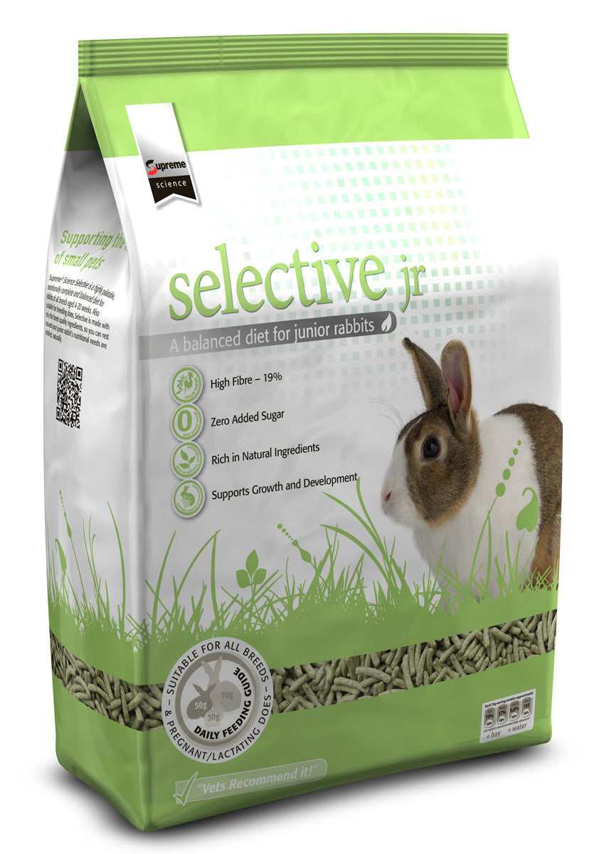 Selective Junior Rabbit With Spinach Food
