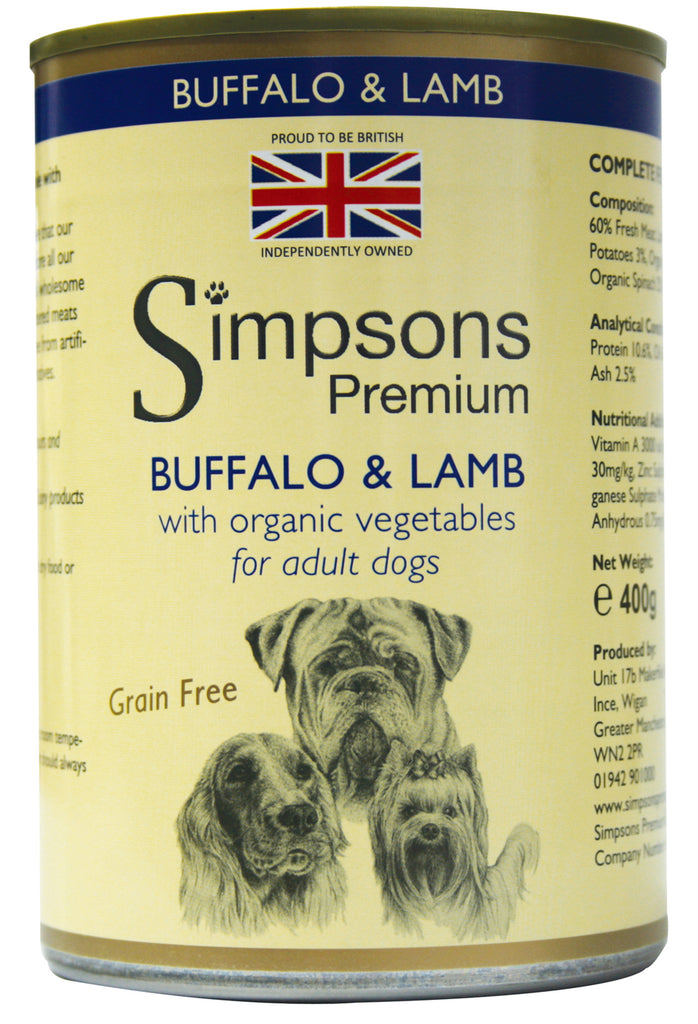 Simpsons Buffalo & Lamb Casserole with Organic Vegetables 400g