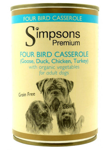 Simpsons Four Bird Casserole with Organic Vegetables 400g
