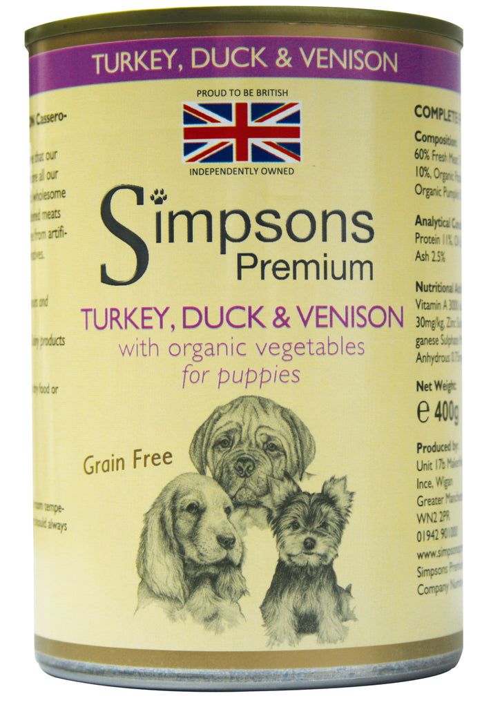 Simpsons Puppy Duck & Venison Casserole 400g