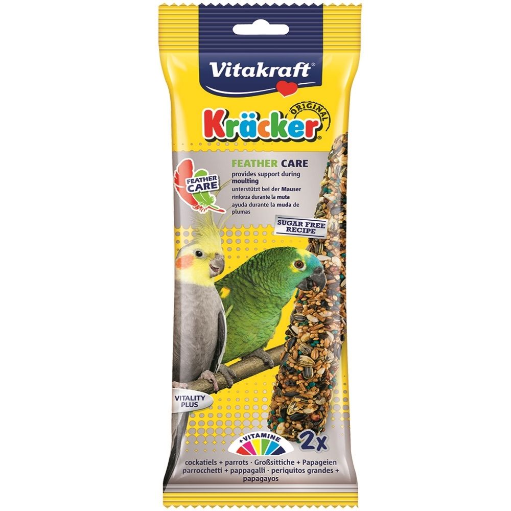 Vitakraft Kracker Feather Care for Cockatiels & Parrots