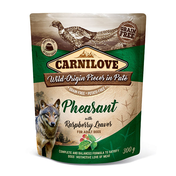 Carnilove Pheasant with Raspberry Leaves Dog Food 300g