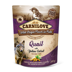 Carnilove Quail with Yellow Carrot Dog Food 300g