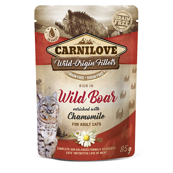 Carnilove Cat Pouch Wild Boar with Chamomile 85g