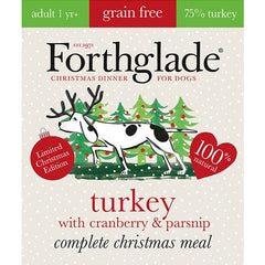Forthglade Christmas Turkey, Cranberry and Parsnip 395g