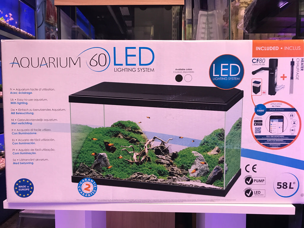 Aquarium 60 LED in black