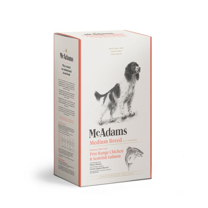 Mcadams Free Range Chicken & Scottish Salmon Medium Breed Dog Food