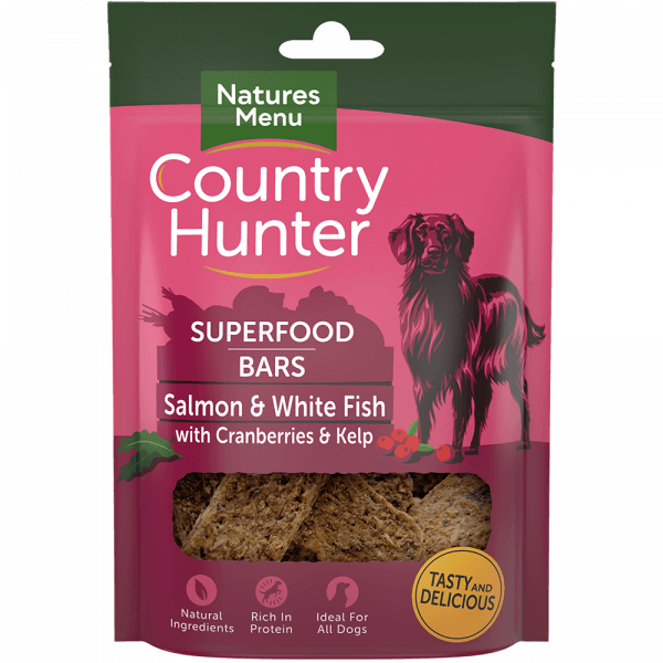 Country Hunter Superfood Bar Salmon & White Fish with Cranberries & Kelp 100g