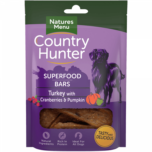 Country Hunter Superfood Bar Turkey with Cranberries & Pumpkin 100g