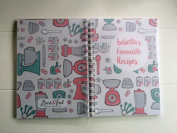 covers on a recipe book
