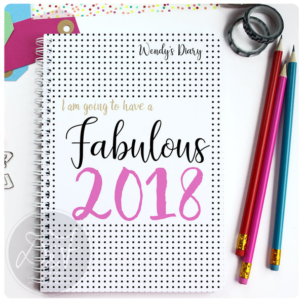 2018 Diary with personalised cover (photos to be updated v.soon)