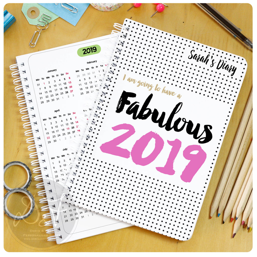 2019 personalised diary