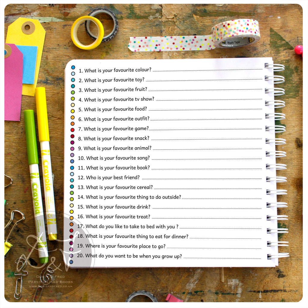 questions birthday interview book doris fred 20 questions birthday interview book