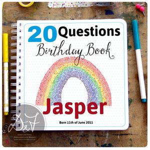 20 Questions / Birthday Interview book