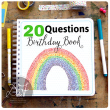 Load image into Gallery viewer, 20 Questions / Birthday Interview book