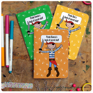 3 mix and match A6 personalised pocket notebooks *now with a choice of lines/plain/dotgrid or lists*