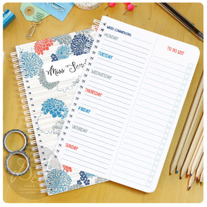 seven day planner with tear off to do lists
