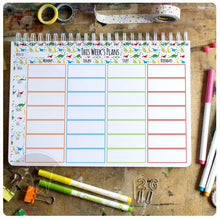 Load image into Gallery viewer, A4 Personalised Family organiser with tear off shopping lists