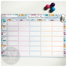 Load image into Gallery viewer, A4 Personalised reusable Magnetic Weekly planner/Chores/Meal planner