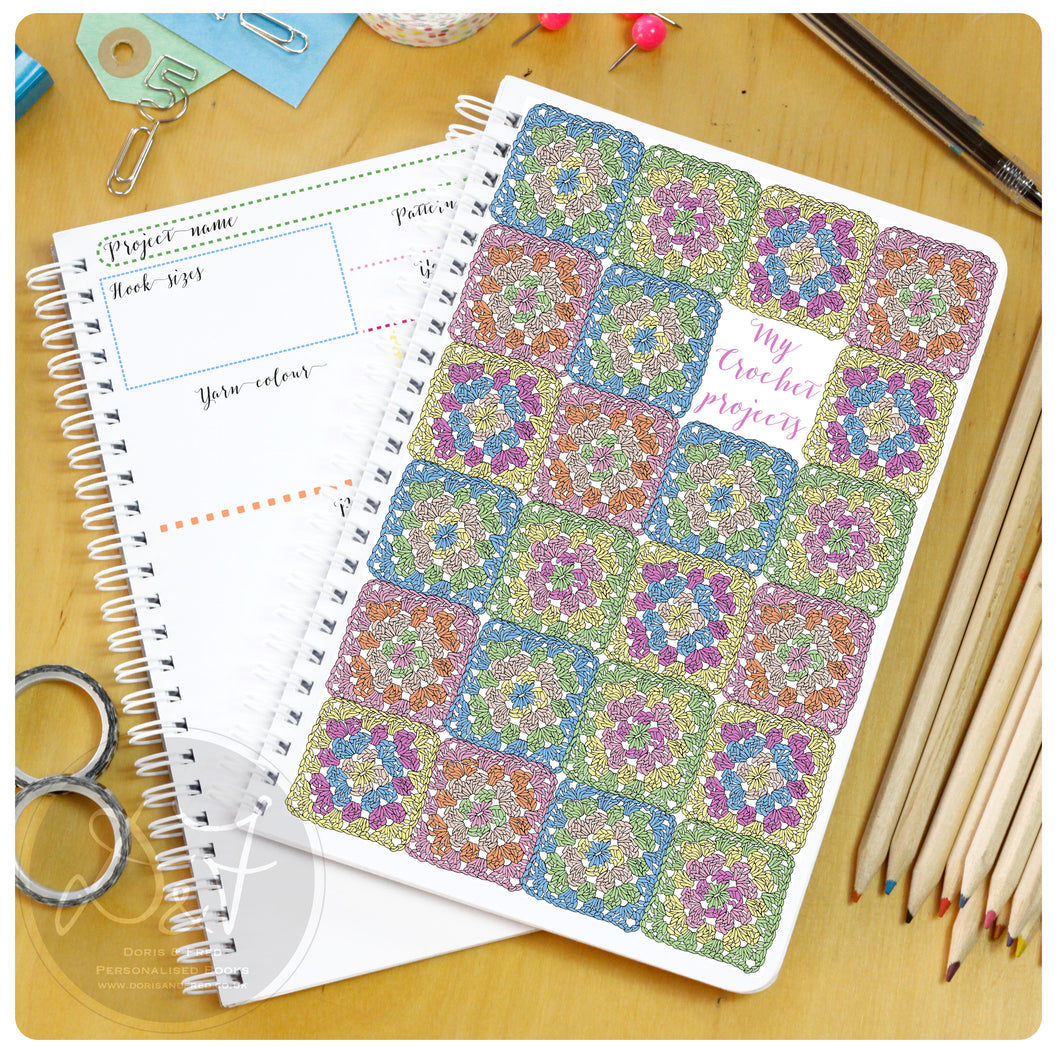 Personalised Crochet project book
