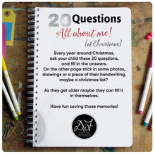 Load image into Gallery viewer, All about me 20 Questions - Christmas Interview Scrapbook